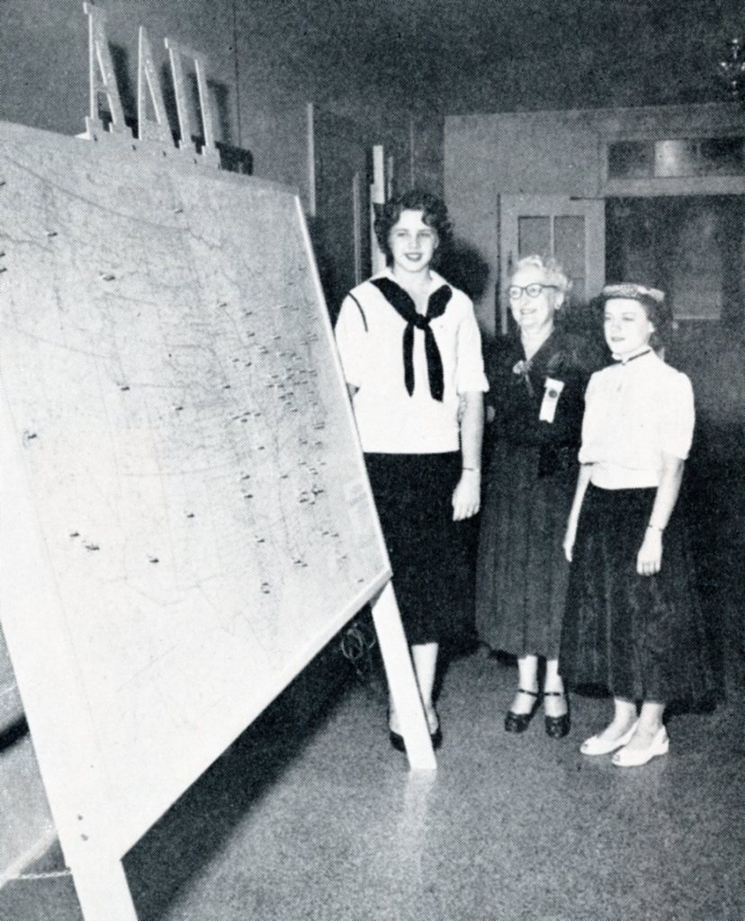 Chapter map created for the Centennial Convention 1951